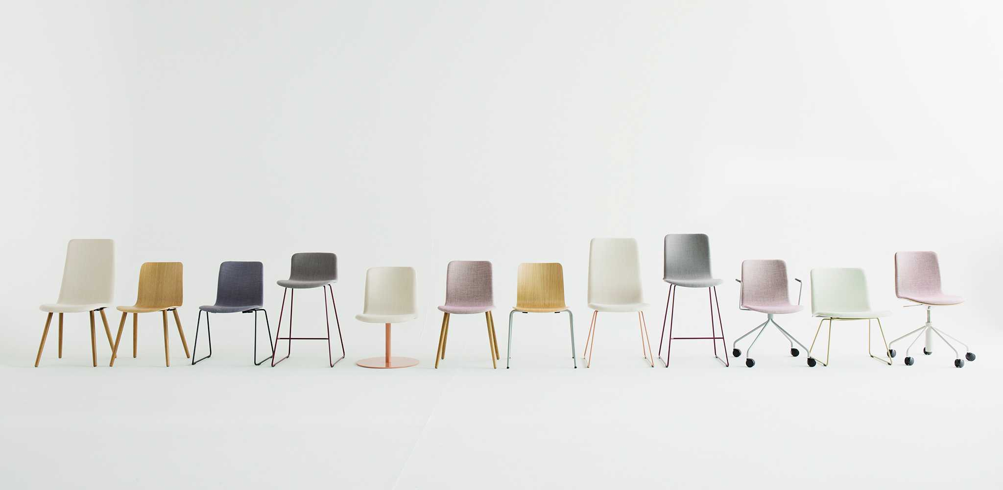 Sola chairs in a row
