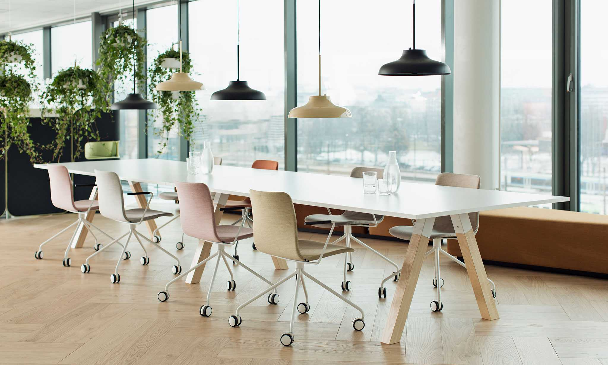 Frankie conference table and Sola chairs