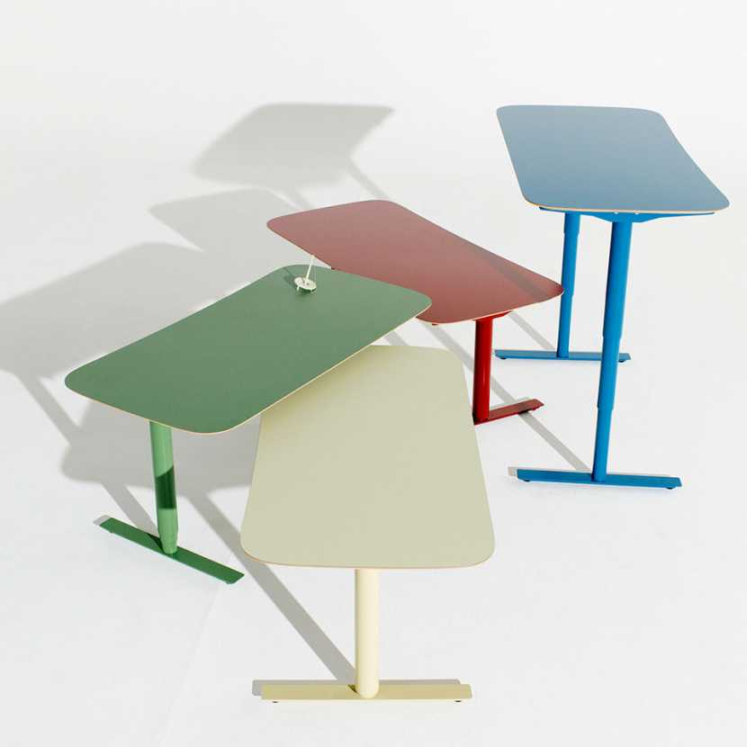 Colourful desks