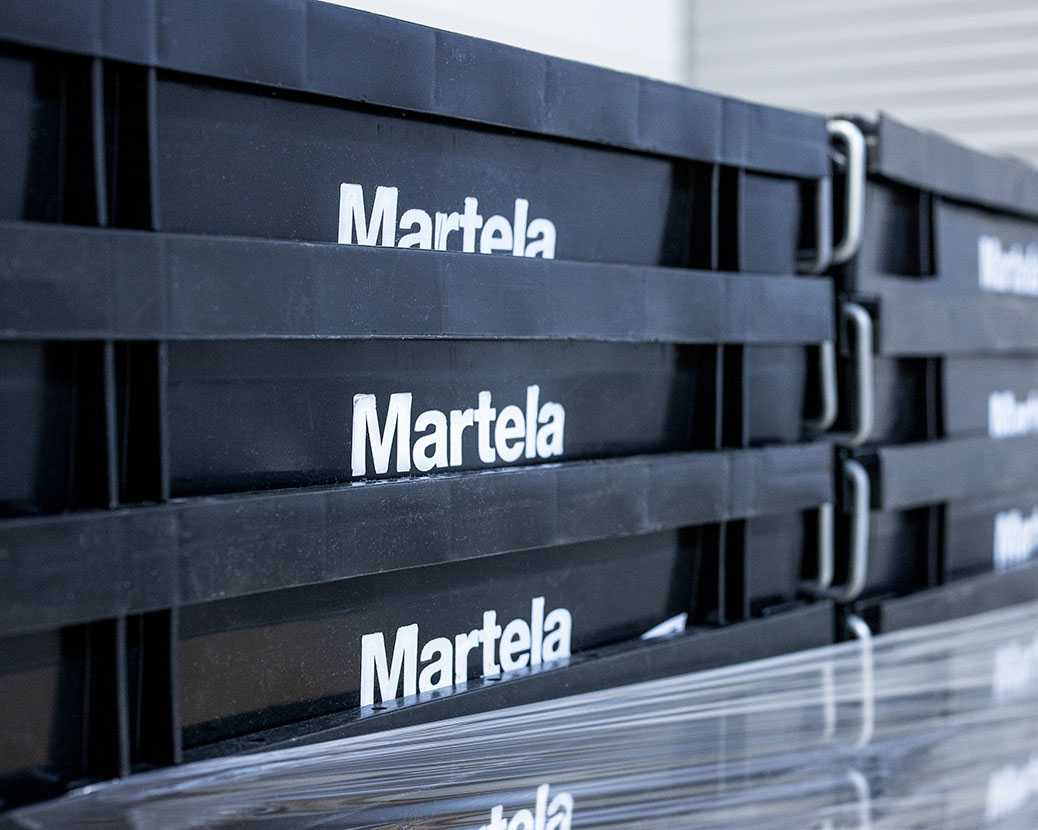 Martela moving boxes