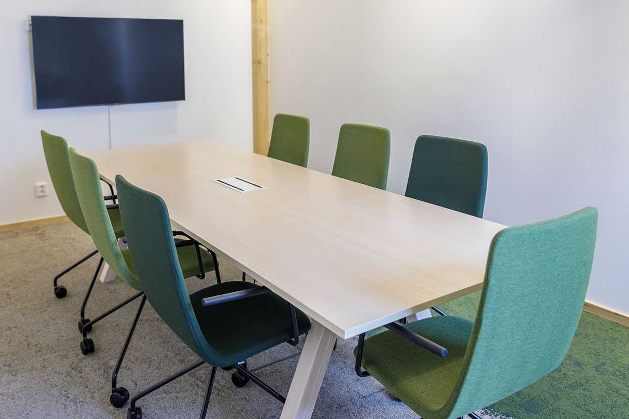 Martela's Sola chairs and Frankie conference table at ALFA's head office in Jönköping, Sweden