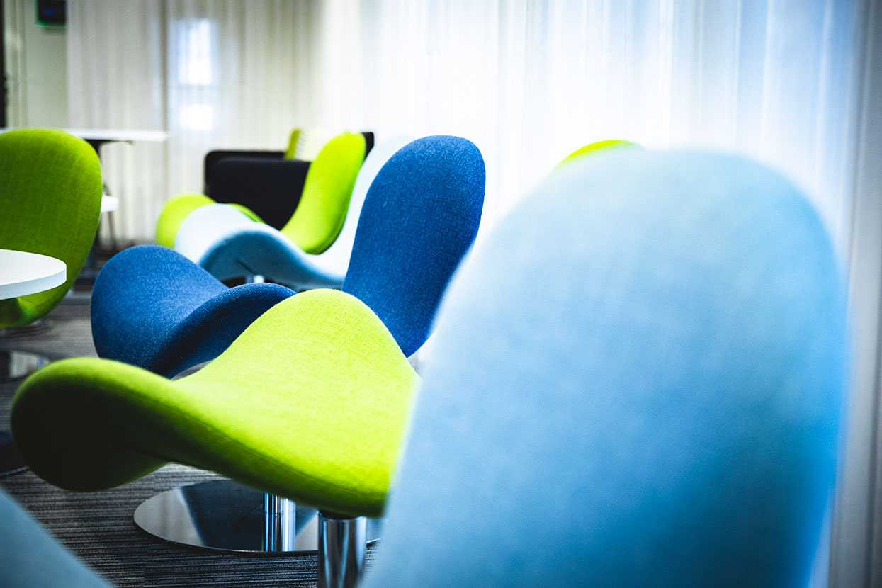 Martela's Fly Me chairs at Enfo's office in Espoo, Finland