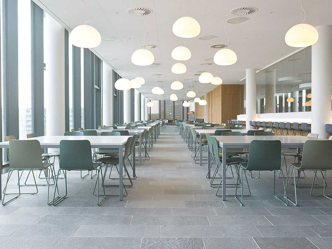 Martela's Sola chairs at Financial Institute in Denmark