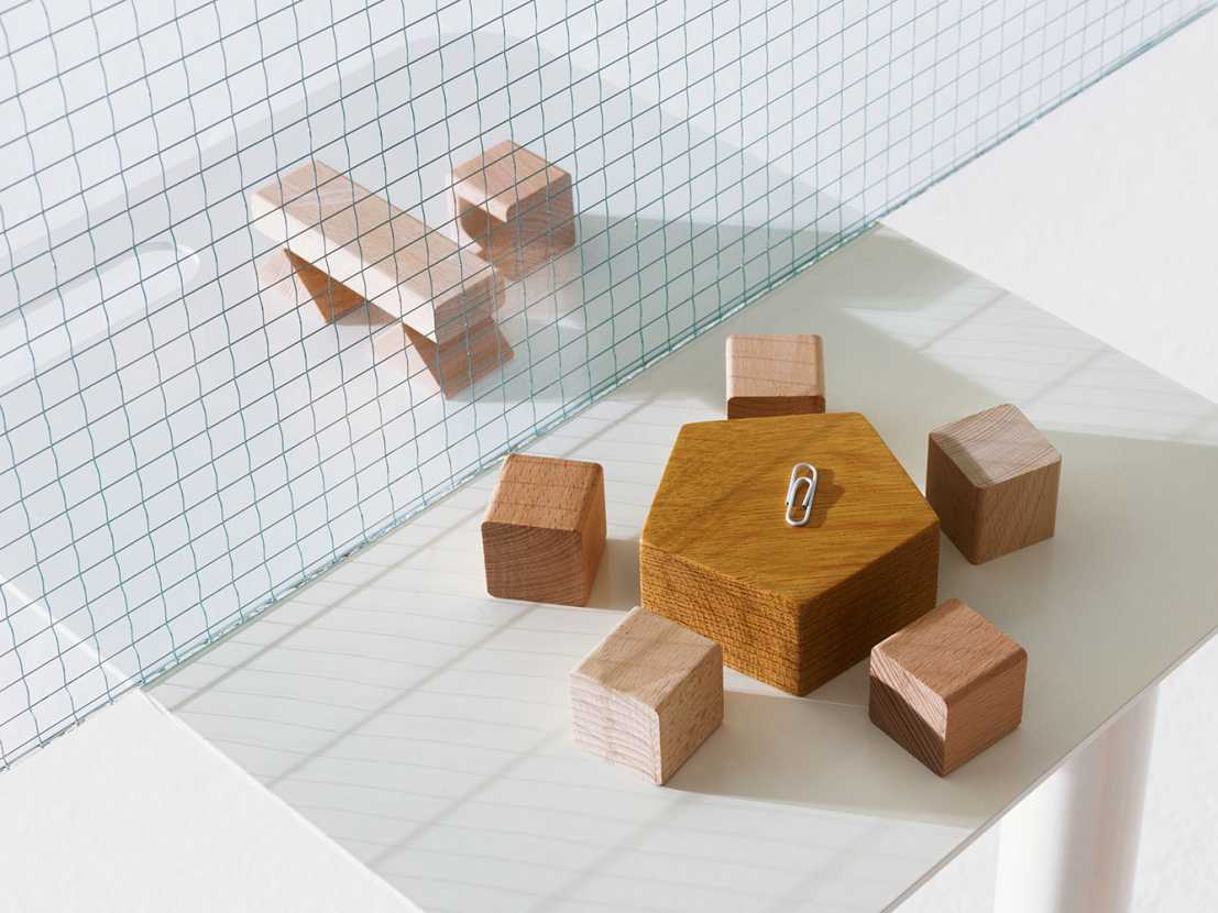 Activity-based office made of wooden blocks