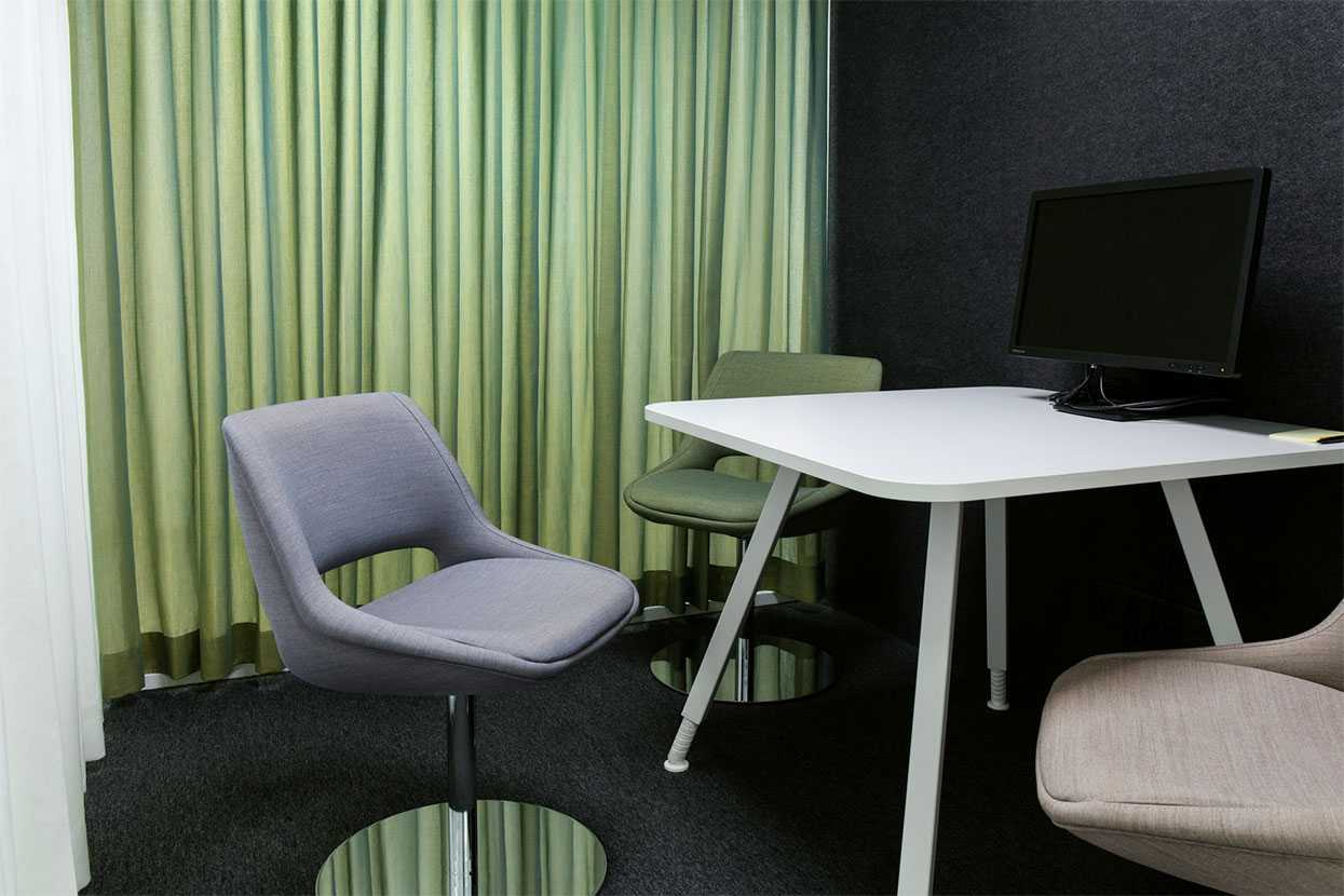 Martela's Kilta chairs and Alku table in a conference room at Stora Enso's office in Imatra, Finland
