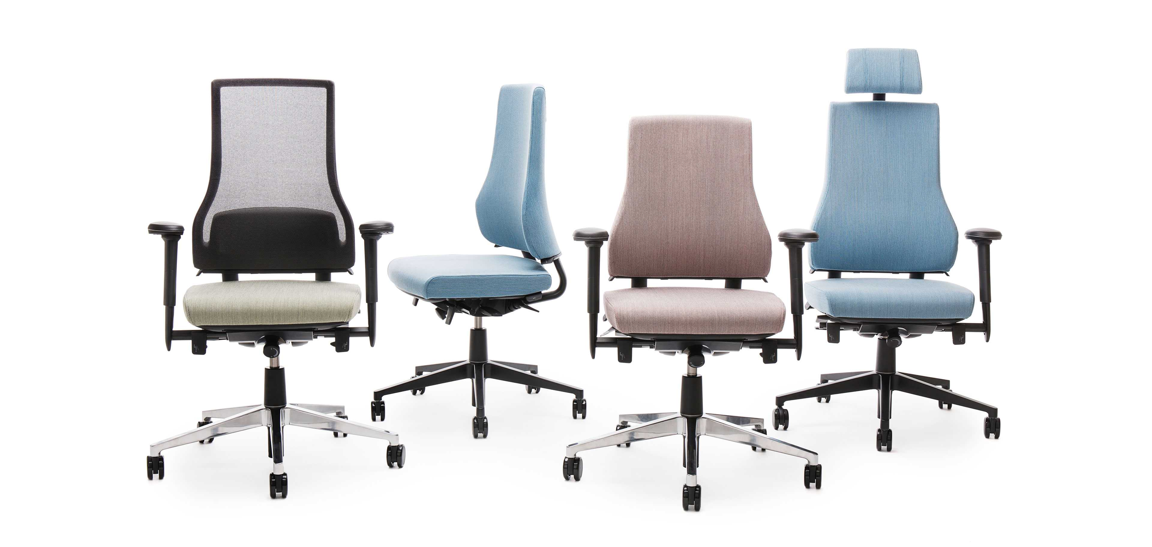 Task chairs by Martela
