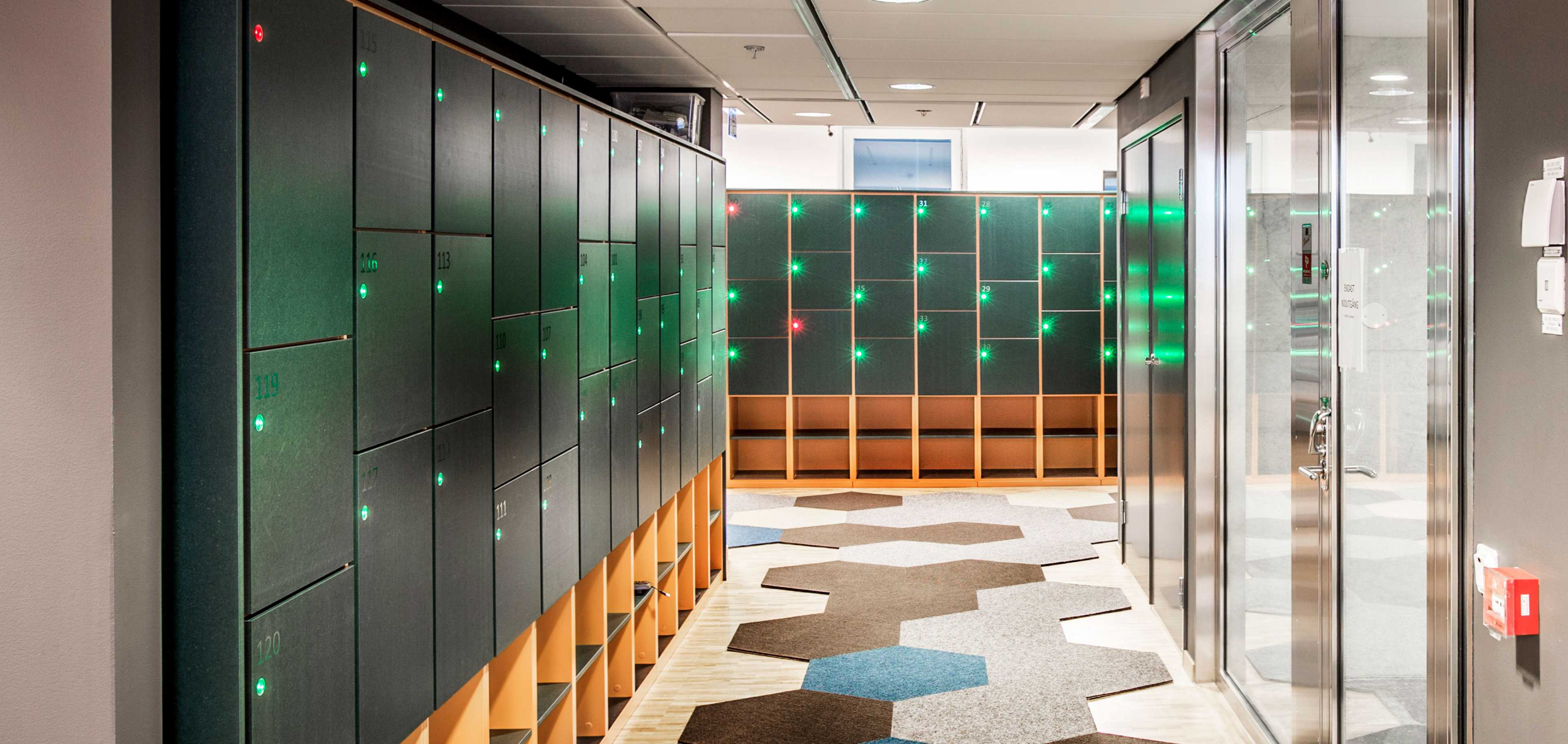 Martela Dynamic Storage at Cybercom's office in Stockholm