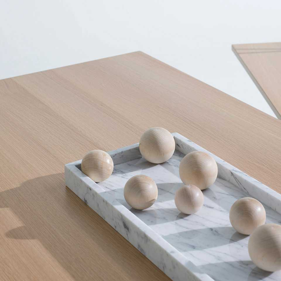 Wooden balls in a bowl