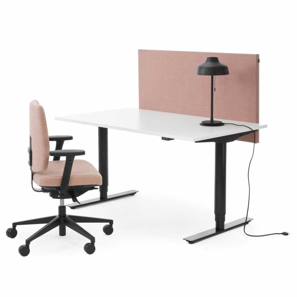 Electric desk and task chair for home office